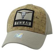 VM961 Texas State Baseball Hat Cap (Khaki & Khaki)