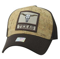 VM961 Texas State Baseball Hat Cap (Brown & Brown)