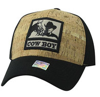 VM961 Malboro Cowboy Velcro Cap (Black & Black)
