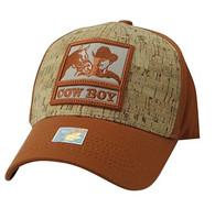 VM961 Malboro Cowboy Velcro Cap (Texas  Orange & Texas Orange)