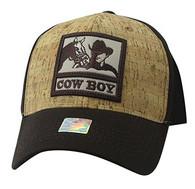 VM961 Malboro Cowboy Velcro Cap (Brown & Brown)