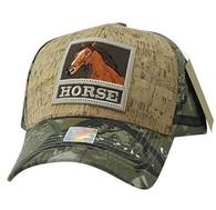 VM961 Horse Velcro Cap (Hunting Camo & Hunting Camo)