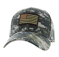 VM706 USA Flag Baseball Velcro Hat Cap (Solid Digital Camo)