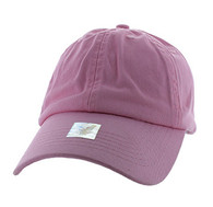 BP080 Washed Cotton Polo Style Caps (Solid Light Pink)