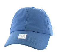 BP080 Washed Cotton Polo Style Caps (Solid Sky Blue)