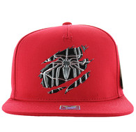 SM964 Spider Snapback Cap (Solid Red)