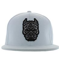 SM569 Pitbull Snapback Cap (Solid White)
