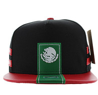 SM943 Mexico Cotton Snapback (Black & Red)