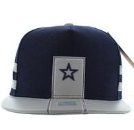SM943 Star Cotton Snapback (Navy & Grey)