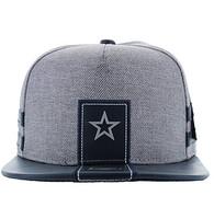 SM943 Star Cotton Snapback (Grey & Navy)