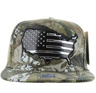 SM947 America USA Flag Snapback (Hunting Camo & Hunting Camo)