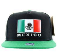 SM962 Mexico Cotton Snapback (Black & Kelly Green)