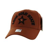 VM031 Lone Star State Baseball Cap (Texas Orange & Texas Orange)