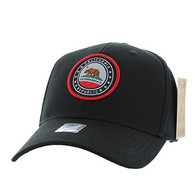 VM899 Cali Bear Cotton Velcro Cap (Black & Black)