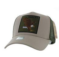 VM918 Eagle Mesh Trucker Baseball Cap (Khaki & Olive)