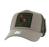 VM918 Cock Mesh Trucker Baseball Cap (Khaki & Olive)