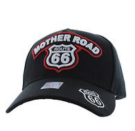 VM929 Route 66 Velcro Cap (Black & Black)