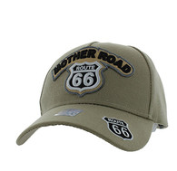 VM929 Route 66 Velcro Cap (Khaki & Khaki)