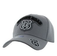 VM929 Route 66 Velcro Cap (Light Grey & Light Grey)
