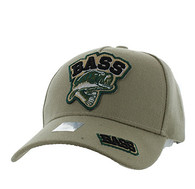 VM929 Big Bass Outdoor Sports  Velcro Cap (Khaki & Khaki)