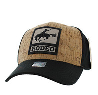 VM961 Rodeo Horse Rider Velcro Cap (Black & Black)