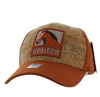 VM961 Horse Velcro Cap (Texas Orange & Texas Orange)