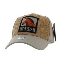 VM961 Horse Velcro Cap (Khaki & Khaki)