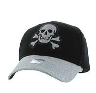 VM938 Skull Velcro Cap (Black & Silver)