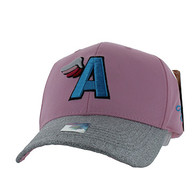 VM919 A Wing Cotton Baseball Cap (Light Pink & Silver)