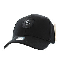 VM790 Los Angeles Cotton Baseball Cap Hat (Black & Black)