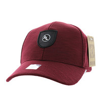 VM790 Alabama Cotton Baseball Cap Hat (Burgundy & Burgundy)