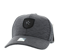 VM790 Star Cotton Baseball Cap Hat (Charcoal & Charcoal)