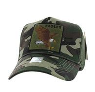 VM918 Eagle Mesh Trucker Baseball Cap (Military Camo & Olive)