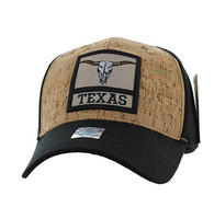 VM961 Texas State Baseball Hat Cap (Black & Black)