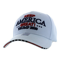VM983 Trump 2020 Keep America Great Velcro Cap (Solid White)