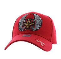 VM733 Choppers Baseball Cap (Solid Red)