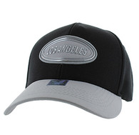VM815 Los Angeles Cotton Baseball Cap Hat (Black & Light Grey)