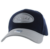 VM815 Dallas Cotton Baseball Cap Hat  (Navy & Grey)