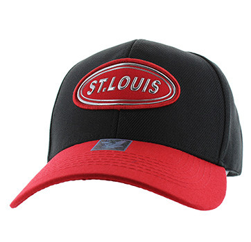 1977b596cec VM815 St. Louis Cotton Baseball Cap Hat (Black   Red) - Ace Cap