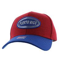 VM815 Puerto Rico Baseball Cap Hat (Red & Royal)