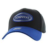 VM815 Honduras Baseball Cap Hat (Black & Royal)