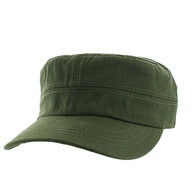 VP085 Washed Cotton Castro Caps (Olive)