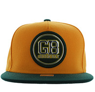 SM984 Green Bay City Snapback Cap (Gold & Dark Green)