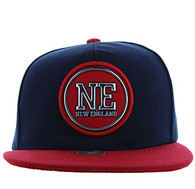 SM984 New England City Snapback Cap (Black & Gold)