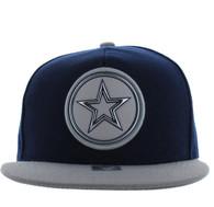 SM984 Star Snapback Cap (Navy & Grey)