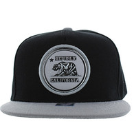 SM984 Cali Bear Snapback Cap (Black & Grey)