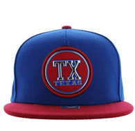 SM984 Texas State Snapback Cap (Royal & Red)