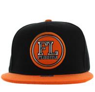 SM984 Florida State Snapback Cap (Black & Orange)