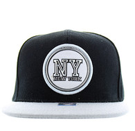SM984 New York  City Snapback (Black & Grey)