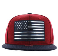 SM794 USA Flag Snapback (Red & Navy)